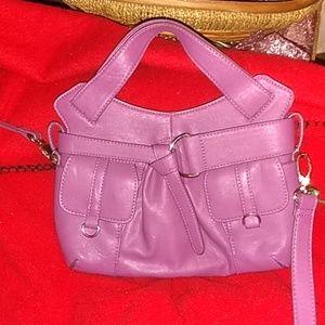 Purple Poppie Jones hands or shoulder bag